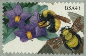 US Stamp Gallery >> Purple nightshade, Morrison's bumblebee