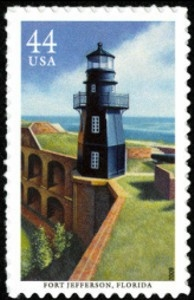 US Stamp Gallery >> Fort Jefferson Lighthouse