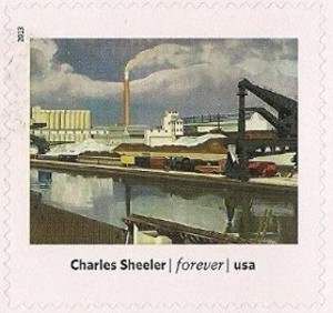 US Stamp Gallery >> American Landscape, by Charles Sheeler