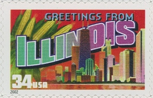 US Stamp Gallery >> Illinois