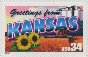 US Stamp Gallery >> Kansas