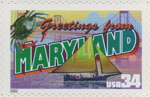 US Stamp Gallery >> Maryland
