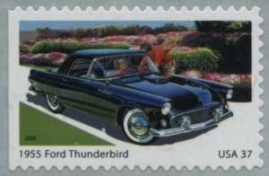 US Stamp Gallery >> 1955 Ford Thunderbird