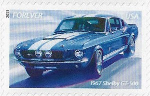 US Stamp Gallery >> 1967 Ford Mustang Shelby GT 500