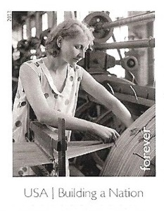 US Stamp Gallery >> Textile Worker