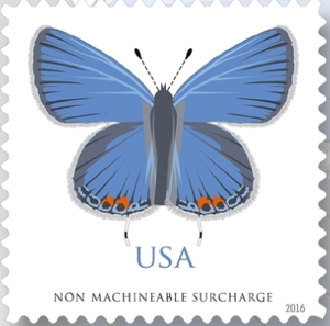 US Stamp Gallery >> Eastern Tailed-Blue Butterfly