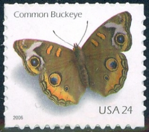 US Stamp Gallery >> Common buckeye butterfly