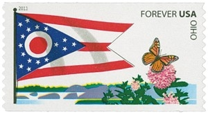 US Stamp Gallery >> Ohio Flag