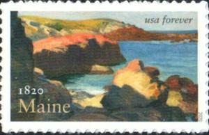 US Stamp Gallery >> Maine Statehood