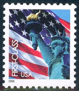 US Stamp Gallery >> Flag & Statue of Liberty