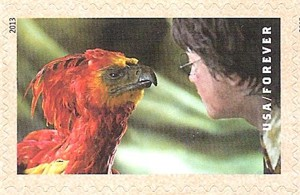 US Stamp Gallery >> Harry Potter and Fawkes the Phoenix