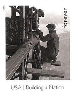 US Stamp Gallery >> Riveters on Empire State Building