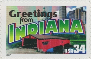 US Stamp Gallery >> Indiana