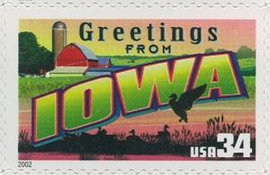 US Stamp Gallery >> Iowa