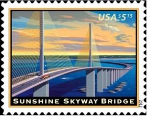 US Stamp Gallery >> Sunshine Skyway Bridge