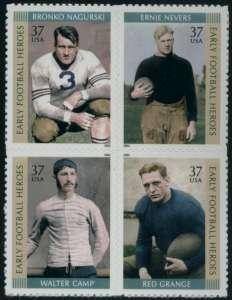 US Stamp Gallery >> Early football heroes